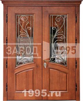 входные двустворчатые двери со стекл