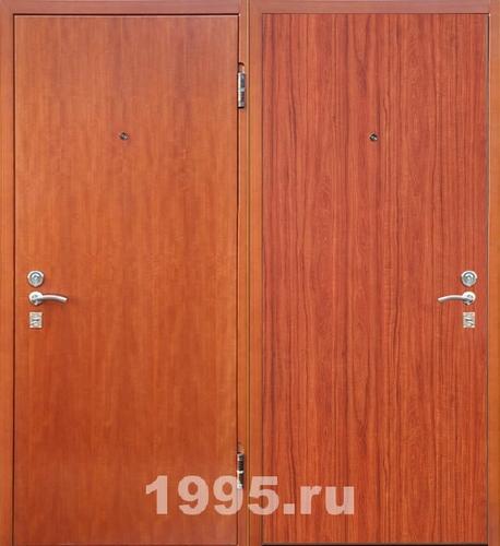 входные офисные двери двустворчатые ламинированные