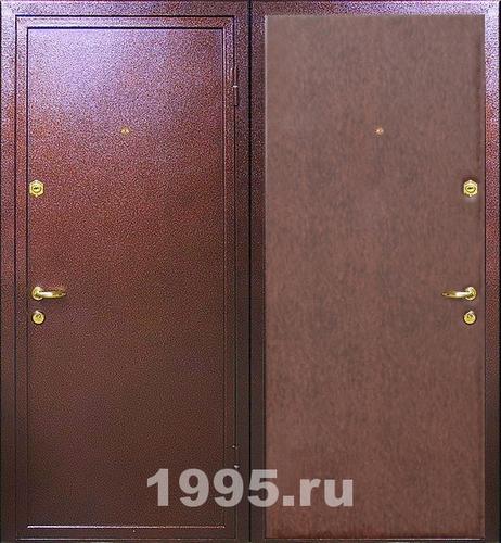 входные двери с порошковым напылением и винилискожей