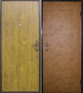 металлическая дверь с порошковым напылением и винилискожей в домодедово