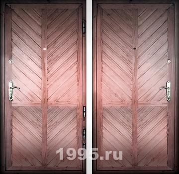 Недорогие двери для дачи с евровагонкой