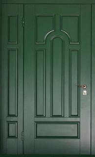 двустворчатые металлические двери на этаж