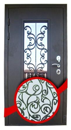 варианты кованых элементов на входную дверь