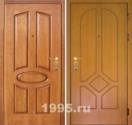 металлические двери с отделкой массивом дерева от производителя