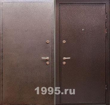 двери металлические с порошковым напылением двупольные