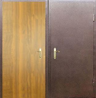 двери тамбурные с металлическим напылением