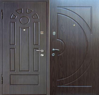 двери железные входные с отделкой мдф двух сторон в железнодорожном