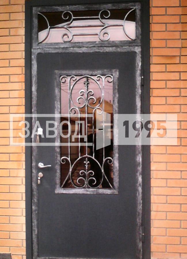 железные двери на улицу с ковкой